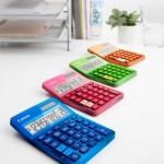 New and colorful Canon calculators