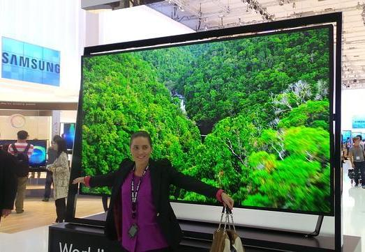 Samsung presents a 110 inches 4K TV