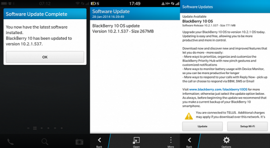 Blackberry 10.2.1 OS update
