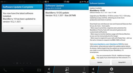 Blackberry 10.2.1 OS update