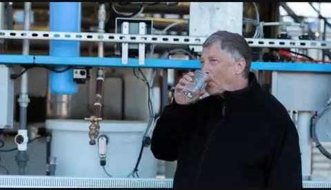 Bill Gates drank water treated by a processing of sanitary waste