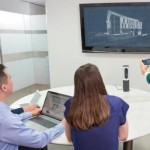 The Logitech ConferenceCam Connect puts quality videoconference where we need it