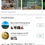Facebook will begin to enhance their groups with the function of suggestions 'Discover'