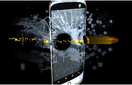 damaged smartphones